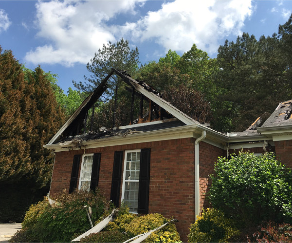 Attic Fire Roof Burnt Off Destin Florida