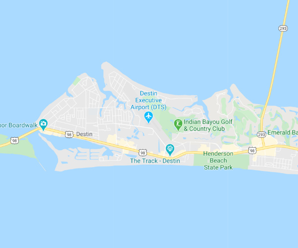 Destin Florida Service Area Map
